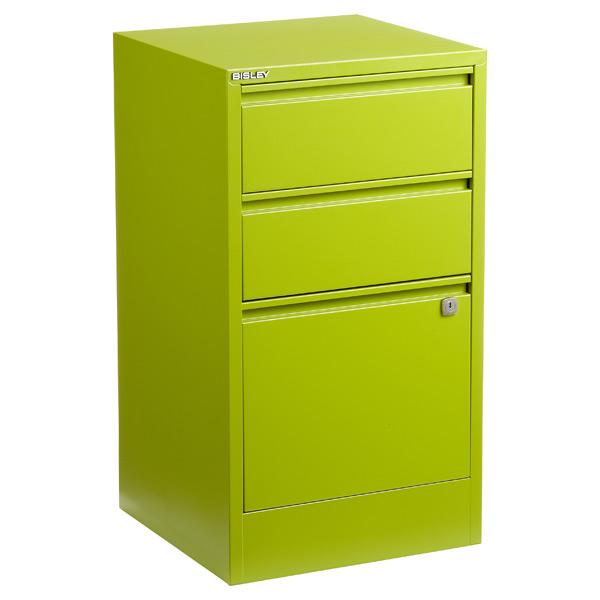 Delicieux ... Bisley 3 Drawer Locking Filing Cabinet Green