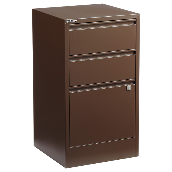 Bisley® 3-Drawer File Cabinet Sepia
