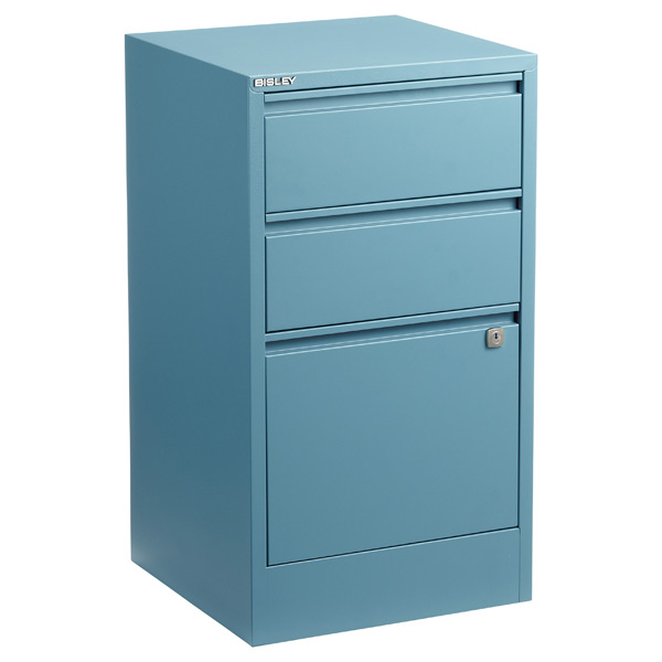 Bisley® 3-Drawer File Cabinet Blue