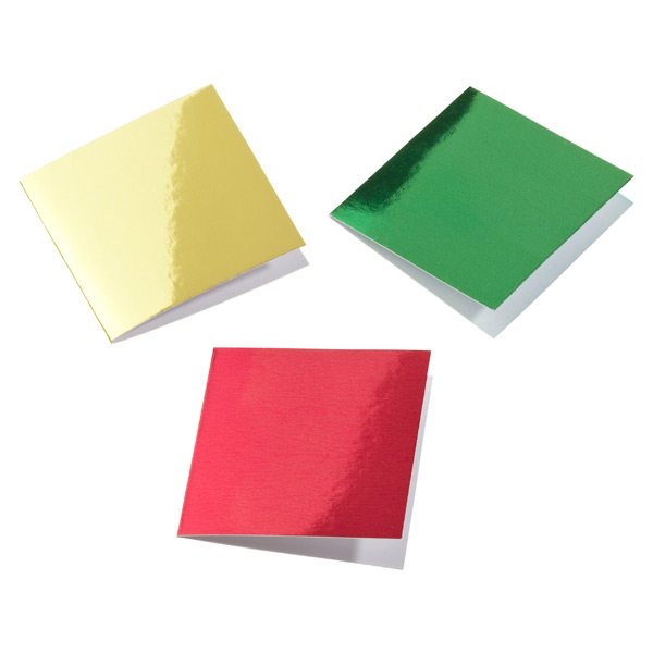 Square Foil Gift Tags Red, Grn, Gold Pkg/10