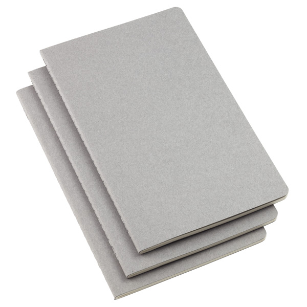 Large Moleskine Cahier Journals Grey Pkg/3