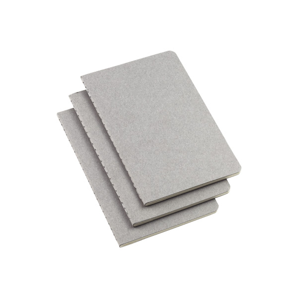 Pocket Moleskine Cahier Journals Grey Pkg/3