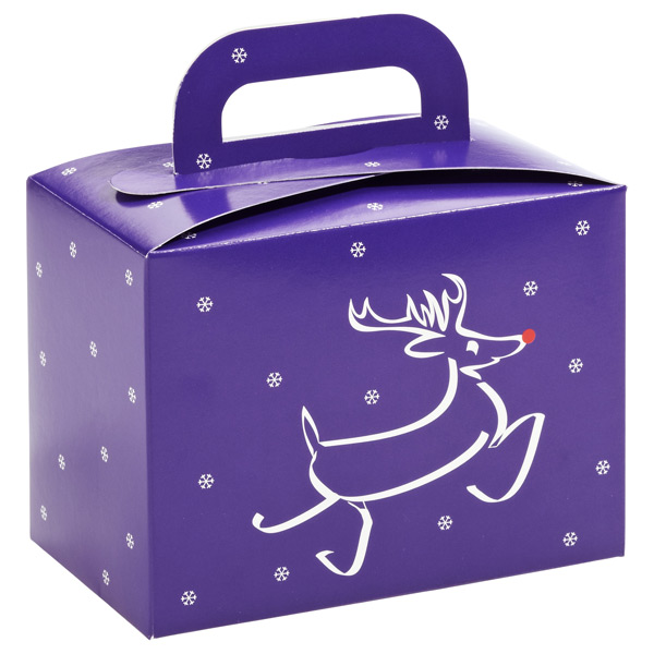 Reindeer Box w/ Handle Purple