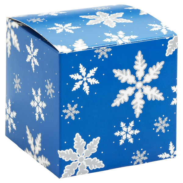 Snowflake Cube Gift Box Blue