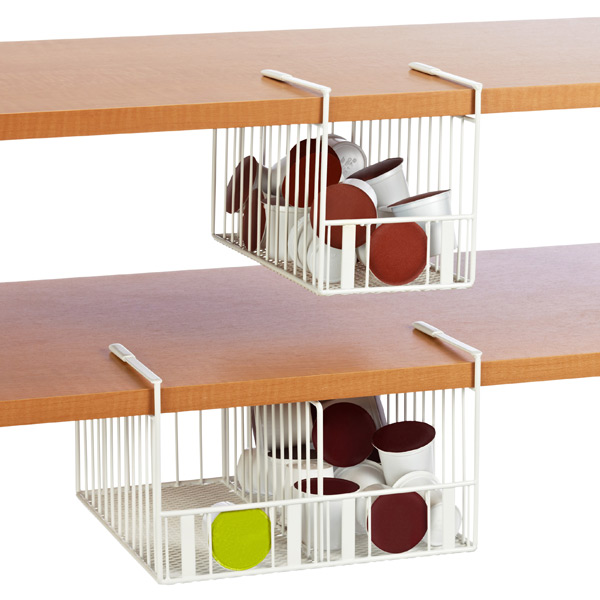Coffee Pod Undershelf Storage Bins