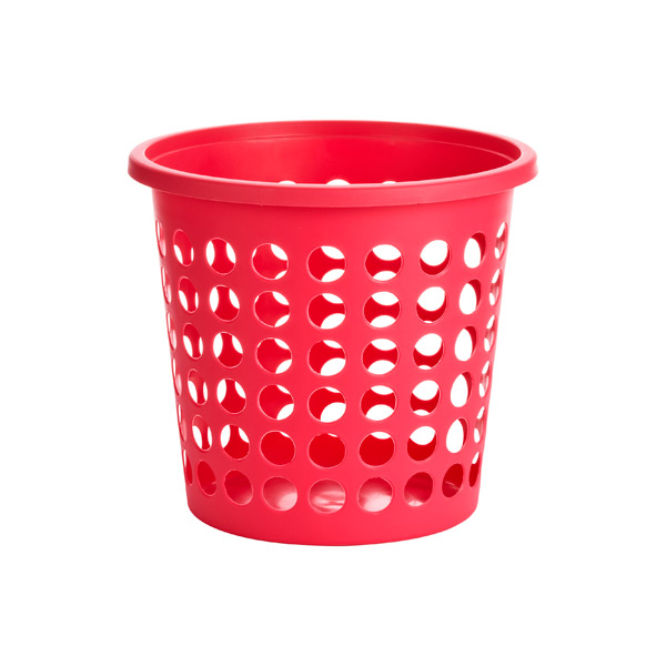 Small Round Circles Basket Rose