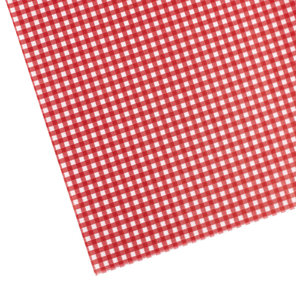 Gingham Waxed Tissue Sheets Red Pkg/20