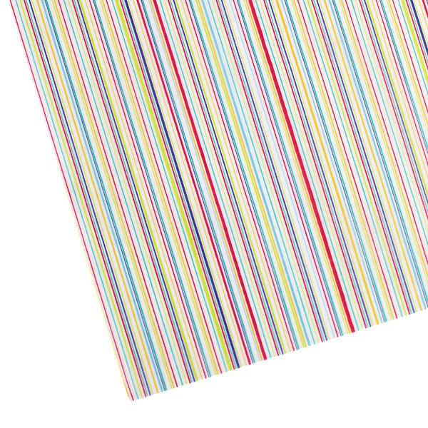 Stripes Waxed Tissue Sheets Multi Pkg/20
