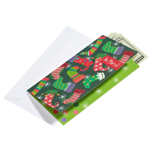 Money Card Bright Stockings Pkg/6