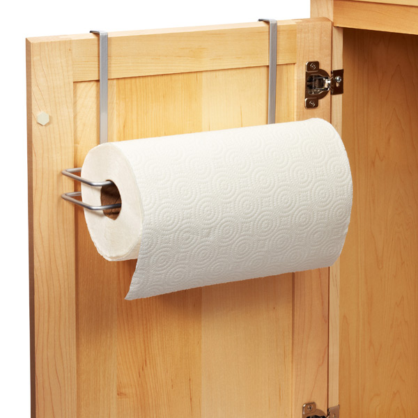 paper towel holder. Polytherm Over the Cabinet Paper Towel Holder  The Container Store