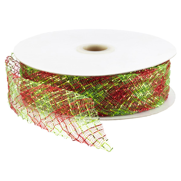 Ribbon Stretch Metallic Red/Lime