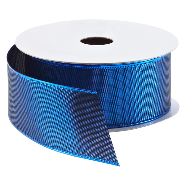 Ribbon Wired Sheer Lame Blue