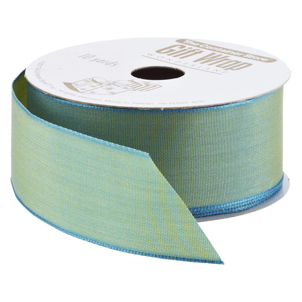 Ribbon Wired Taffeta Iridescent Aqua