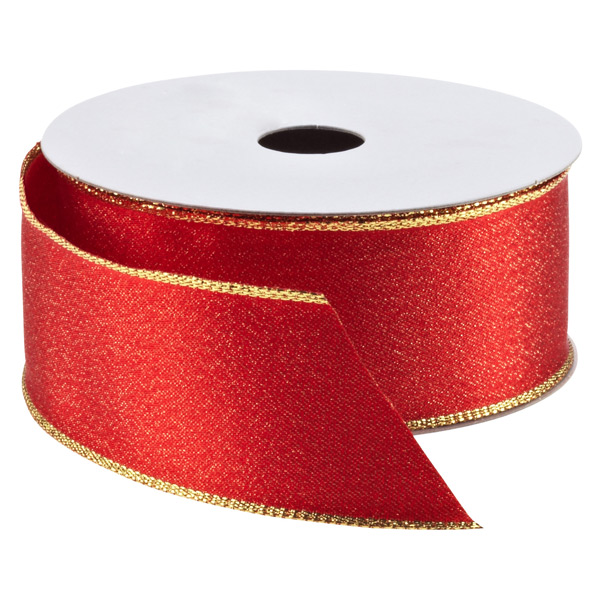 Wired Ribbon Red/Gold