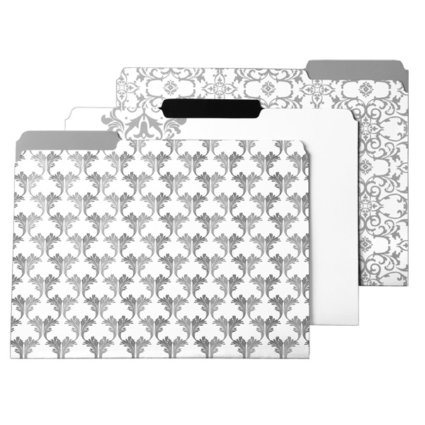 Letter-Size Interior File Folders Baroque Pkg/6