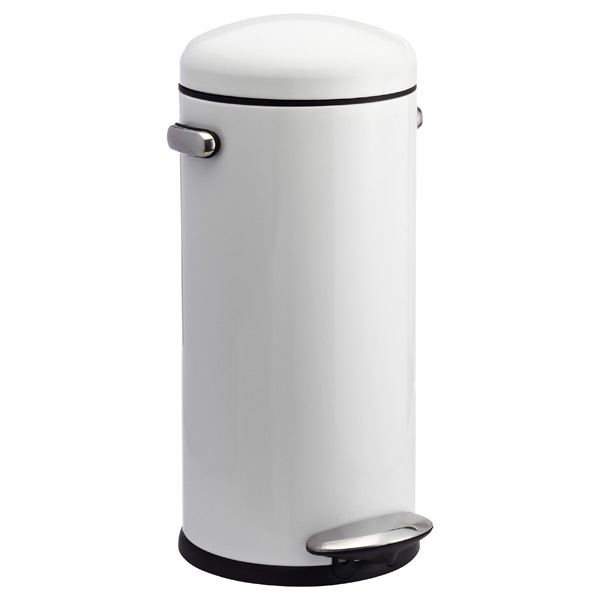 simplehuman® 8 gal. Retro Step Can White