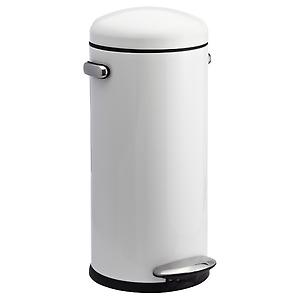 simplehuman 8 gal. Retro Step Can White