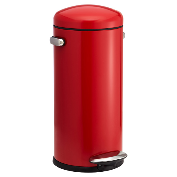 simplehuman® 8 gal. Retro Step Can Red