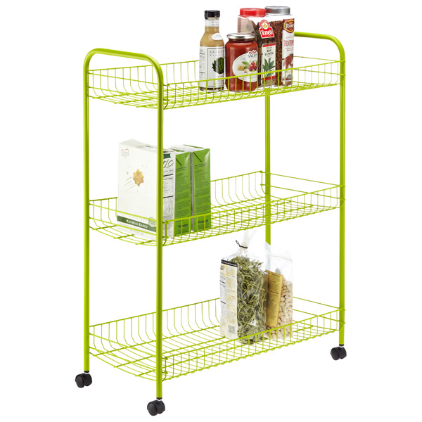 3-Tier Grande Rolling Cart Green