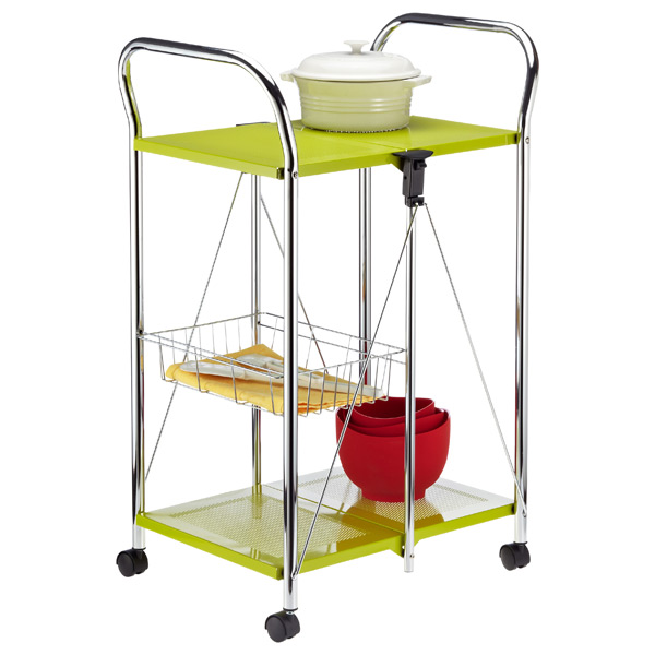 Sunny Kitchen Trolley Green