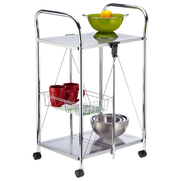 Sunny Kitchen Trolley Silver