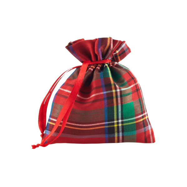 Tartan Plaid Fabric Sack