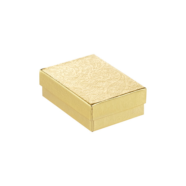 "3"" x 2"" x 1"" h Jewelry Gift Box Gold"