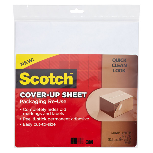 Scotch® Cover Up Sheets White Pkg/6
