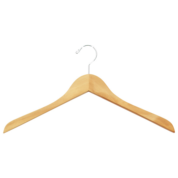 Basic Shirt Hanger Natural Pkg/6