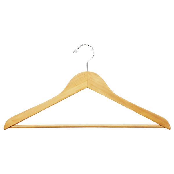 Basic Shirt Hanger with Ribbed Bar Natural Pkg  ... fcd1916bb09