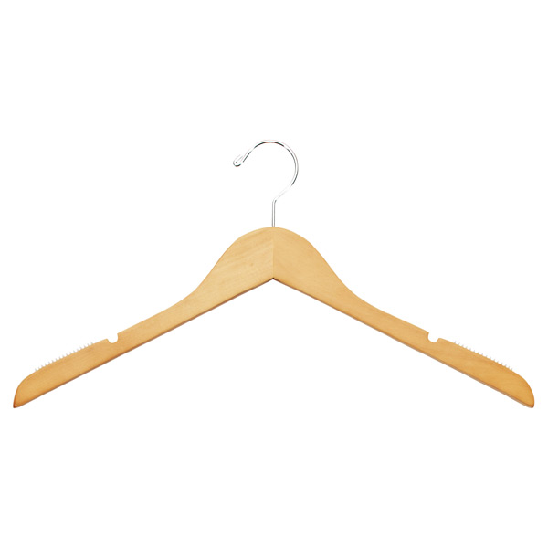 Basic Blouse Hanger Natural Pkg/6