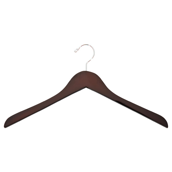 Case of 36 Basic Shirt Hangers Walnut