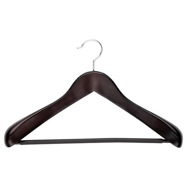 Black wooden coat hanger