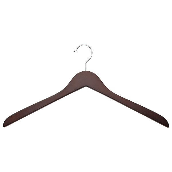 Basic Oversized Shirt Hanger Walnut Pkg/6