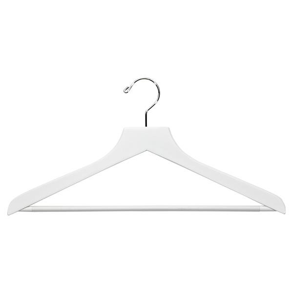 Basic Shirt Hanger With Ribbed Bar White Pkg