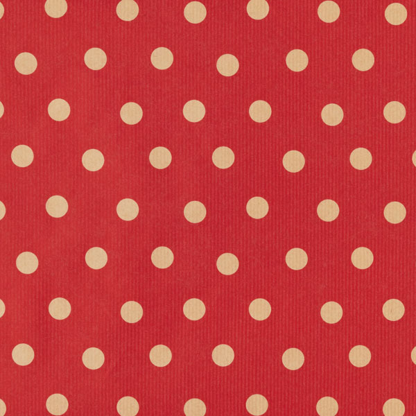 Wrap Kraft Polka Dots Red