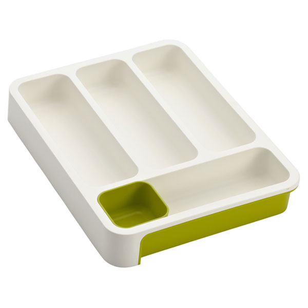 5a84b5168c85 Joseph Joseph Green & White Expandable DrawerStore Cutlery Tray | The  Container Store
