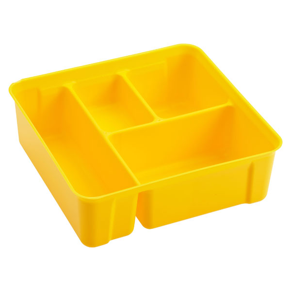 Colorwave Smart Store 4-Compartment Tray Yellow