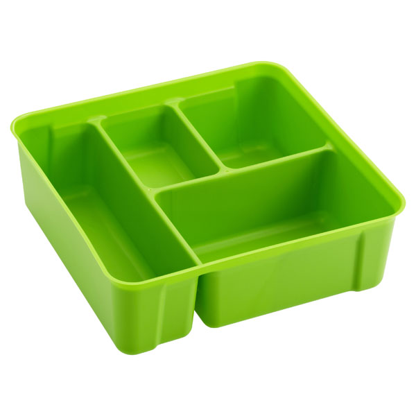 Colorwave Smart Store 4-Compartment Tray Lime