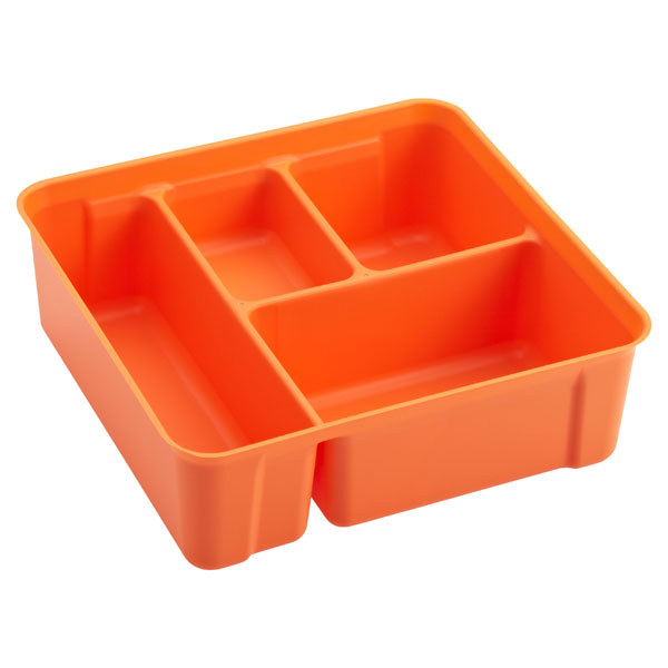 Colorwave Smart Store 4-Compartment Tray Orange