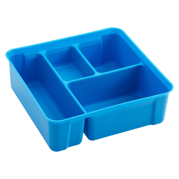 Colorwave Smart Store 4-Compartment Tray Blue