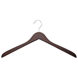 Case of 36 Basic Oversized Shirt Hangers Walnut