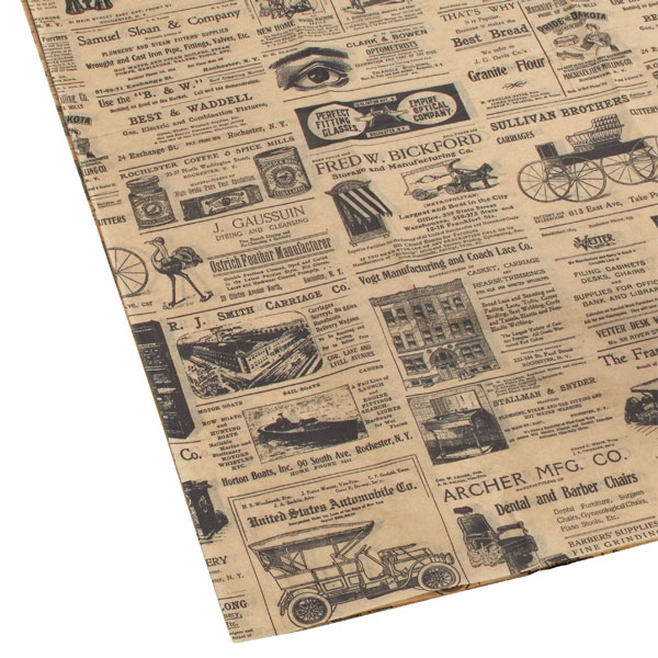 Vintage News Tissue Sheets Pkg/4