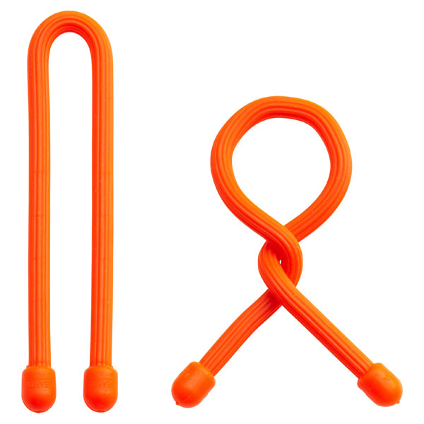 "6"" GearTie® Twist Tie Orange Pkg/2"