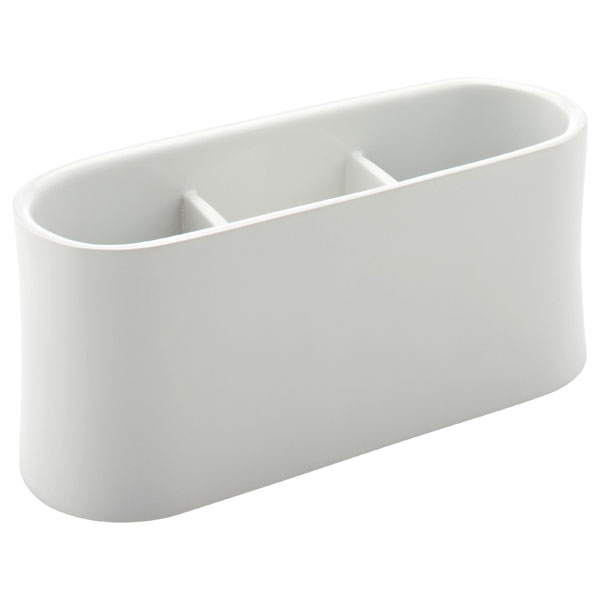 Oval Remote Control Caddy White