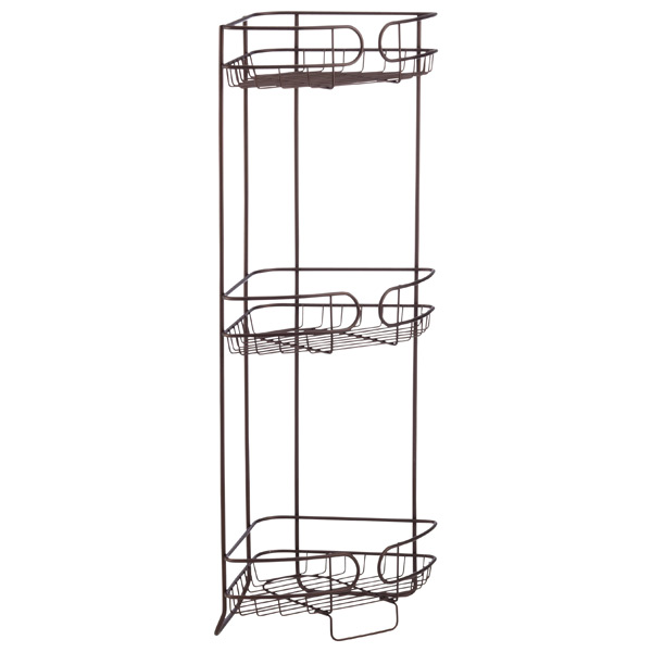 3-Shelf Corner Storage Tower Bronze