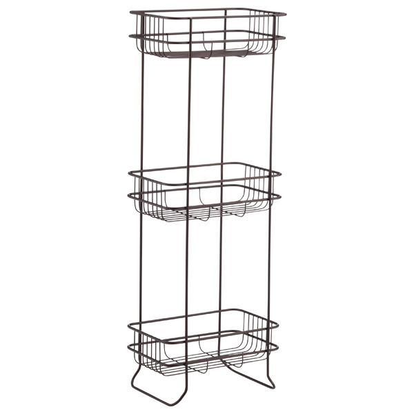 3-Shelf Storage Tower Bronze
