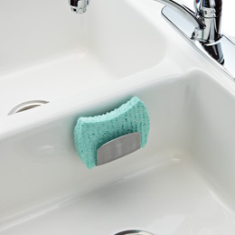 Kitchen Sink Sponge Holder steel suction sink basketoxo | the container store