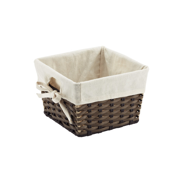 Square Montauk Bin w/ Liner Brown