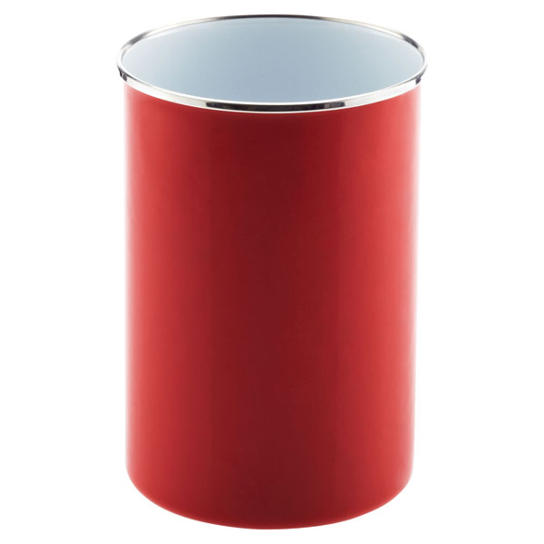 2 qt. Enamel Utensil Holder Red